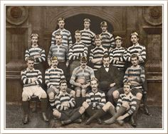 Caius College rugby team, Cambridge c.1890. Image from Lido Vintage Images Limited...