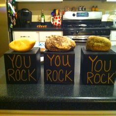 You rock award for employees.