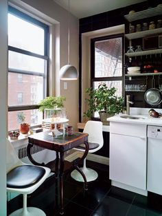 New kitchen corner small apartment therapy Ideas Modern Apartment Decor, Cute Apartment, Apartment Kitchen, Apartment Plants, Apartment Design, Vintage Apartment, Apartment Hacks, York Apartment, Apartment Layout