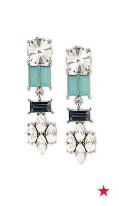 Colorful stones and cool crystals will give your elegant ensemble a stunning touch of drama come prom night — try these drop earrings from the M. Haskell for INC jewelry collection
