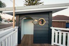 Kyal & Kara create the ultimate cubby house for their son Kids Backyard Playground, Backyard For Kids, Backyard Ideas, Backyard Playhouse, Playground Ideas, Kids Cubby Houses, Play Houses, Kids Cubbies, Kyal And Kara