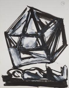 Jacques Grinberg : sans titre, 2004, encre de Chine et gouache sur papier, 65 cm…