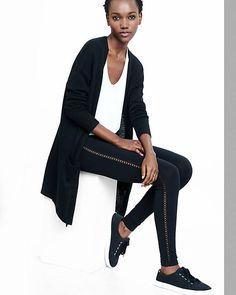 Lattice Side Stripe Legging | Express