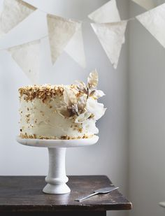Gorgeous coconut cake that would be perfect for a neutral color theme #wedding! From http://roostblog.com/roost/2013/6/4/twenty-eight  Photo Credit: http://roostblog.com
