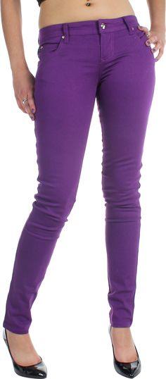 Tripp NYC Juniors   Womens Super Skinny T-Jeans   Pants in Purple 04ffd31bc1