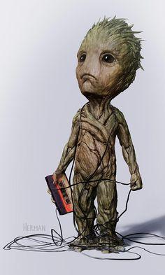 Diseños alternativos de Baby Groot en 'Guardianes de la Galaxia Vol. 2'