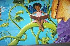 Detail of Elementary School mural by Tina Sansone Vinson