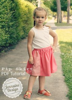 Pip Skirt Tutorial for girls' sized 12 months through 12 years