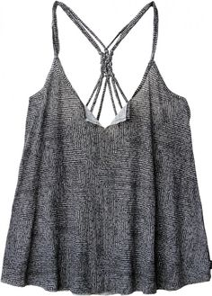 The Erase Me Top by RVCA has a macrame detail at back shoulder straps.