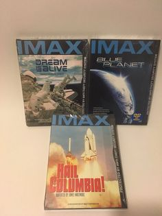 IMAX DVD Lot of 3 Hail Columbia/Dream Alive/Blue Planet, Space NEW!