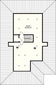 Selene VI  projekt - Poddasze Dream House Plans, My Dream Home, House Design Pictures, Design Case, Home Fashion, Floor Plans, How To Plan, House Styles, Attic