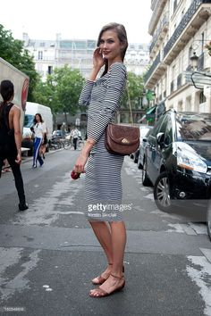 Karlie Kloss model at Paris Fashion Week Autumn/Winter 2012 haute couture shows on July 04, 2012 in Paris, France.