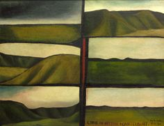 This intense, early landscape painting by New Zealand artist Colin McCahon compliments my previous post about McCahon's later text paintings. McCahon divides the space in this painting accord… Auckland Art Gallery, New Zealand Landscape, New Zealand Art, Nz Art, Famous Artists, Landscape Paintings, Landscapes, Landscape Art, Artist Painting