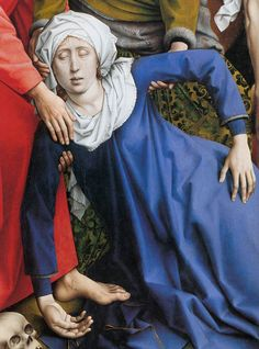 Rogier Van der Weyden Deposition (detail: hand painted oil painting reproduction on canvas by artist Jan Van Eyck, Hieronymus Bosch, Renaissance Paintings, Renaissance Art, Guernica, Rembrandt, Robert Campin, Great Paintings, Oil Paintings