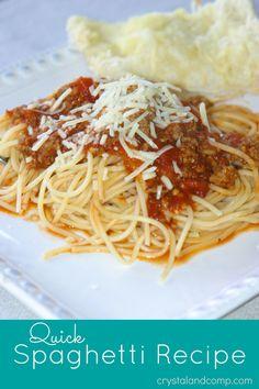 quick spaghetti recipe