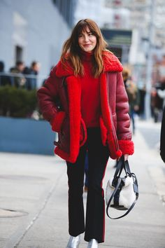 Get An Advanced Lesson In Street Style During NYFW #refinery29  http://www.refinery29.com/2016/02/103173/ny-fashion-week-fall-winter-2016-street-style-pictures#slide-8  Can this amazing coat be our Valentine?...