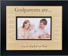 A beautiful gift of faith and love from baby to Godparents. Baby's Godparents will feel that sweet love in their heart every time they look at this lovely frame proudly displayed on their wall or tabletop. Browse our unique selection of Godparent gifts! Baby Baptism, Baptism Party, Christening Gifts, Baptism Ideas, Gift Of Faith, Faith In Love, Cool Gifts, Best Gifts, Godparent Gifts