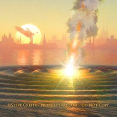 REVELATION — Creitz Illustration Studio Revelation 19, Heaven Art, Isaiah 61, Prophetic Art, 1 Thessalonians, Finding God, Yet To Come, Planet Earth, Trumpet