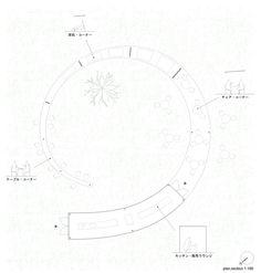 tea house / hata tomohiro Temporary Architecture, Bamboo Architecture, Architecture Drawings, Architecture Plan, Urban Landscape, Worlds Of Fun, My Design, Presentation, Circle Geometry