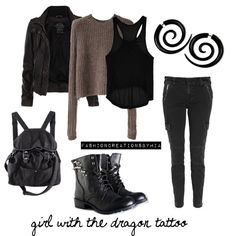 The Girl with the Dragon Tattoo, created by ohana13 on Polyvore