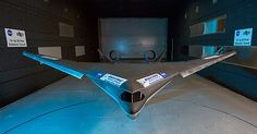 Boeing and NASA testing subsonic 'Blended Wing Body,' to make planes super-efficient. Boeing and NASA researchers are testing a Boeing Aircraft, Fighter Aircraft, Fighter Jets, Blended Wing Body, Nasa Langley, Space Warfare, Flying Wing, Wind Tunnel, Tactical Life