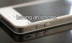 having an iphone