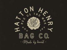 Unique Logo Design, Hatton Henry Bag Co. #Logo #Design