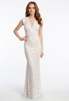 Allover Lace Dress with Open Back from Camille La Vie and Group USA