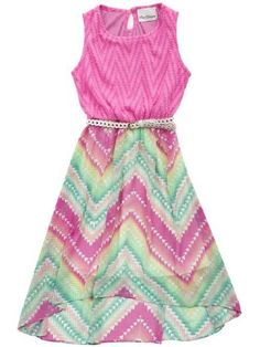 2015 Tween Chevron Easter Dress 7 to 16 Years at Cassie's Closet