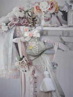 bijou de sac corset shabby en fimo : Autres bijoux par maemele
