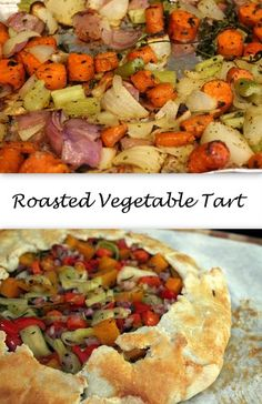 Roasted Vegetable Tart #SundaySupper