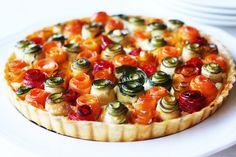 Torta di rose salata con verdure