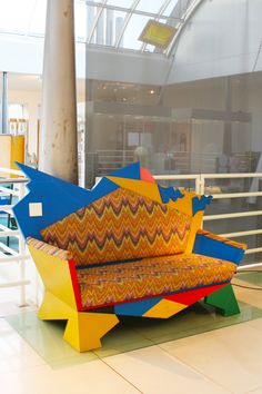 Kandissi sofa by Alessandro Mendini /// More Memphis on Interiorator.com - transmitting tomorrow's trends today