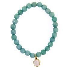 Jade Stretch Bracelet - Aqua Blue - leMel designs