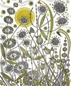 Angie Lewin has produced linocut prints for a number of years. Here you'll find linocuts that are currently for sale plus examples sold out lino print editions. Watercolour Drawings, Art Drawings, Linocut Prints, Art Prints, Block Prints, Floral Prints, Angie Lewin, Fantasy Character, Wood Engraving