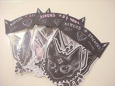 Kitten Stickers by lOll3SHOP on Etsy, €4.80