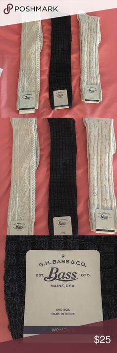 3 boot Socks New with tag Bass Accessories Hosiery & Socks