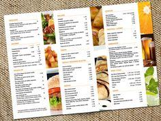 For blank and white page; add some colour and life Restaurant Fast Food, Restaurant Menu Design, Restaurant Branding, Menu Bar, Cafe Menu, Smoothie Menu, Lounge Bar, Digital Menu, Food Promotion
