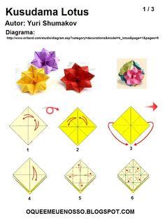 WHAT'S MINE IS OUR: Kusudama Origami - Lotus - Yuri Shumakov