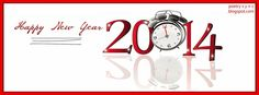 Red FB Timeline Cover Happy New Year 2014 Greeting Facebook Cover Picture
