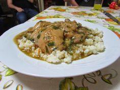 Bucataria tuturor: Tocanita de pui(paprikas). Grains, Rice, Chicken, Meat, Food, Eten, Seeds, Meals, Korn