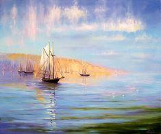 Мастер класс по живописи маслом: пейзаж, море для начинающих