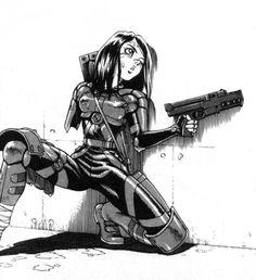 Hyper Future Vision Yandere Manga, Manga Anime, Anime Art, Character Inspiration, Character Art, Character Design, Cyberpunk 2077, Alita Battle Angel Manga, Comic