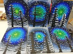 47 Ideas Cool Art Projects For Kids Classroom For 2019 Winter Art Projects, Cool Art Projects, Winter Crafts For Kids, Projects For Kids, Art For Kids, 3rd Grade Art Lesson, January Art, Art Through The Ages, Art Lesson Plans
