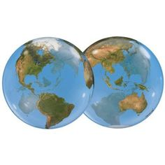 22 Inch Planet Earth 3D Bubble Balloons