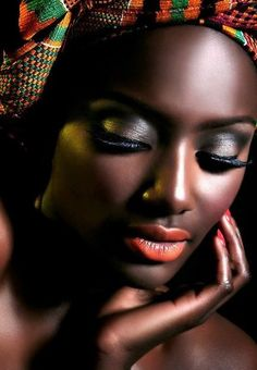 Peachy lips look great with brown skin... great for spring and summer.