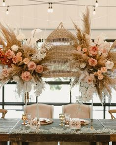 """Nochta Boutique on Instagram: """"I can't get over this gorgeous airy wedding decor 🌾 thank you to the newlyweds @emilyyleier & @leier29 for sharing these beautiful photos!…"""" Top Wedding Trends, Fall Wedding, Wedding Decorations, Table Decorations, Get Over It, Newlyweds, Weddings, Boutique, Photos"""