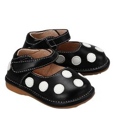 Look at this #zulilyfind! Black Polka Dot Squeaker Mary Jane #zulilyfinds