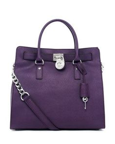 MICHAEL Michael Kors  Hamilton Purple Large Tote.  I have been eyeing this Michael Kors purse for over a year now...I think this would make a great 30th birthday present for myself!  lol