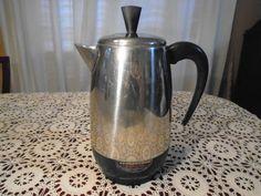 Faberware 8 cup Coffee Percolator / Coffee Percolator / Faberware Percolator / Coffee pot / Faberware Coffee Percolator by Montyhallsshowcase on Etsy